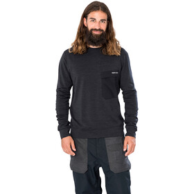 super.natural Alpine Crew Sweater Men jet black melange/jet black